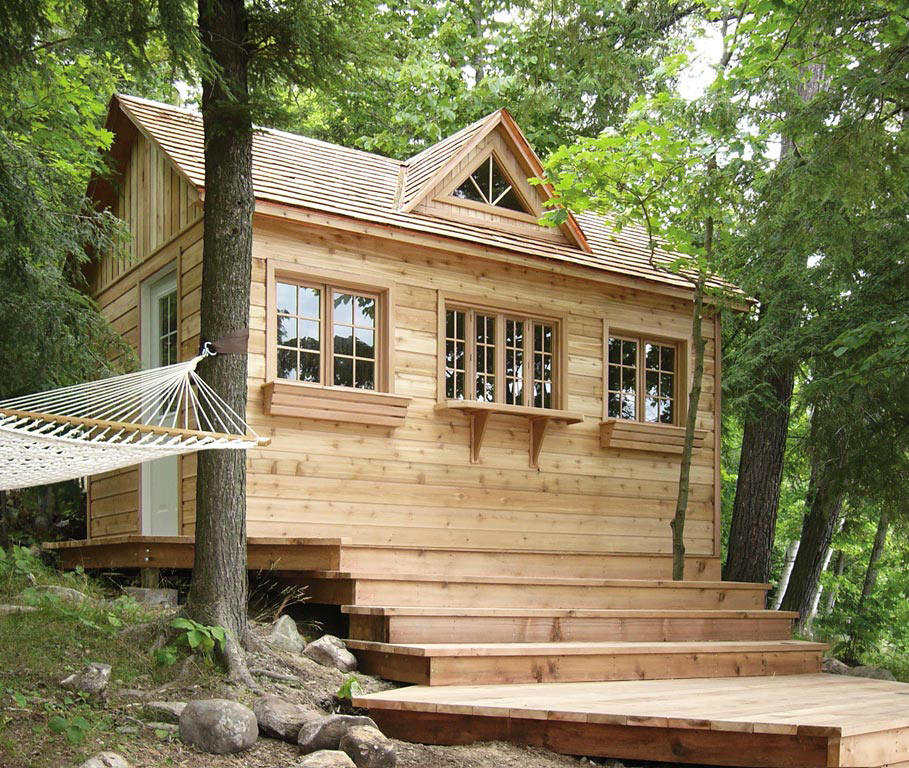 Cabin cottage and bunkie kits from cabana village for Cottage bunkie plans