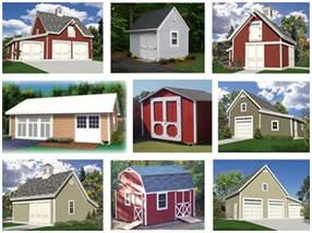 Instant Download Shed, Garage, Barn and Workshop Plans - 100+ Designs for $29.00