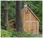 Miny Pole Barn Shed
