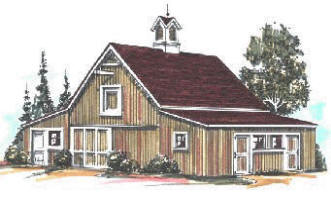 Crab Apple Two Or Four Stall Horse Barn And Workshop Plans