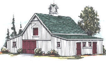 Russet Ridge Four Or Six Stall Horse Barn Plans