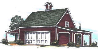 Tarmin tractor pole barn plans for Tractor garage plans