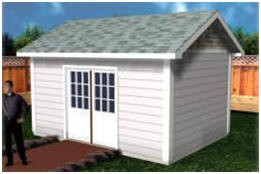 10'x16' Backyard Storage Shed Plans