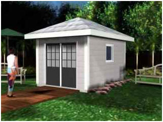Hip Roof Shed, Cabana or Backyard Studio Plans