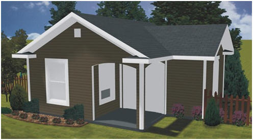Backyard Cottage Plans - You can use this pretty all-purpose building as your shed, backyard office, studio, cabana, pool house or guest cottage.