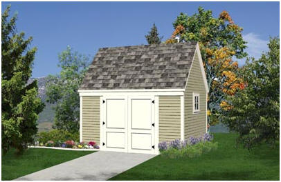 Shed Plans with Loft - This design adds almost eighty square feet of convenient loft storage space to a generous floor area.
