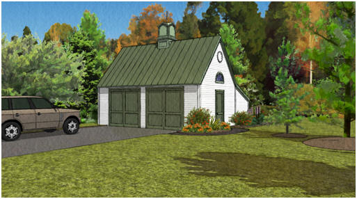 Plans - Pole Frame Two-Car Garage with Loft