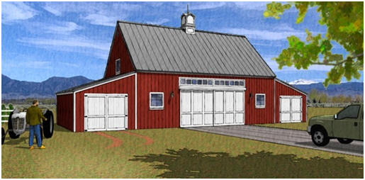 Coach House Style Pole-Barn Plans