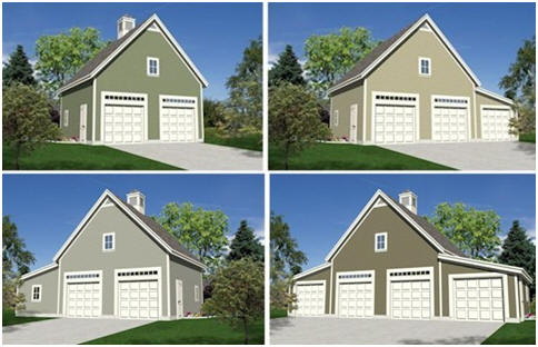 Expandable Detached Garage Plans with Lofts