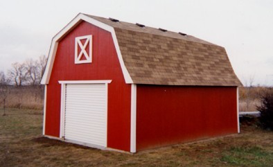 Custom Bonanza Barn with Loft and Overhead Garage Door - Photo by Daryl Dahl