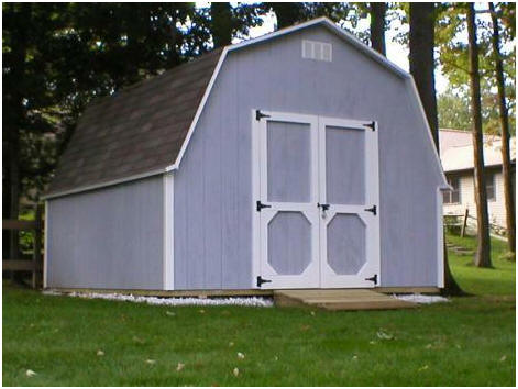 Gambrel Roof Shed Plans by Fred Strickland