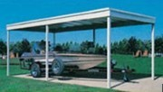 One-Car Detached Steel Carport