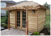 Gargen Shed Plans with Pergola
