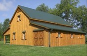 Barn Plans - Blueprints, Gambrel Roof, Barns, Homes, Garage