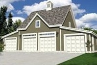 4-Car Carriage House Style Garage with Loft