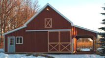 Pole Barn Garage with Storage Loft