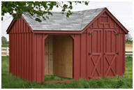 Small Barn with Open Run-In or Storage Area