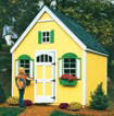 Combination Playhouse and Storage Shed Kit