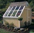 Solar Greenhouse Potting Shed