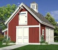 Small Pole-Barn Garage and Workshop with Storage Loft
