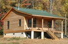 Backroad cabins simple country cabin designs for Hunting camp house plans
