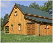 Customozed Applewood Barn - Built in Tennessee