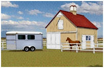 Two-Stall Horse Barn Plans