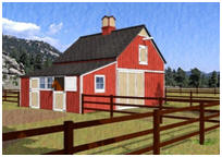 Four-Stall Horse Barn Plans