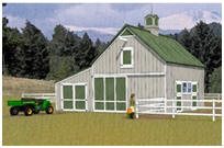 Combination Horse Barn and Garage