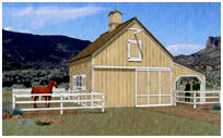 Horse Barn with Loafing Shed