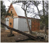 Small Bole Barn with Metal Roof and Siding
