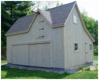Two-Car Country Garage in Vermont