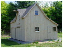 Two-Car Country Garage in Vermont - Side View