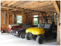Interior of Small Car Barn