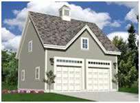 2-Car Expandable Garage Plans with Loft
