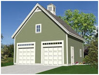 Detached, Expandable 2-Car Garage Building Plans