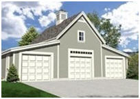 Detached Three-Car Garage Building Plans