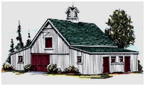 Four or Six Stall Horse Pole-Barn Plans