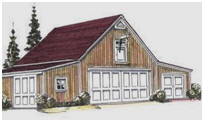 Pole-Frame Car Barn Building Plans
