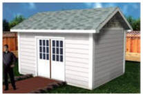 Shed, Cabana or Backyard Studio Building Plans