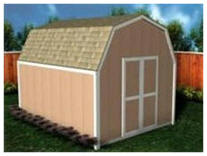 Instant Download Gambrel Roof Shed Plans