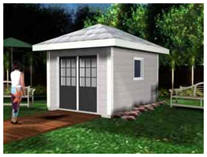 Hip Roof Shed or Cabana Plans