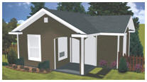 This Backyard Cottage can br your guest room, home office, studio or hobby shop. Get instant download plans.