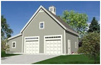 Instant Plans - Combination 2-Car Garage and Workshop