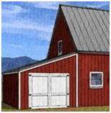 Find Blueprints for Pole Barns, Pole-Frame Country Garages, Yard Barns, Workshops and Sheds