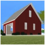 Barns and backbuildings plans kits and building help for Build your own barn online