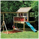 Do It Yourself Playground - Order Plans for a Combination Swinf Set and Playground from Rockler.com