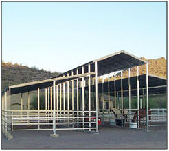 Steel Mare Motels, Open Air Livestock Shelters and Hay Barns from AbsoluteSteelHorse.com