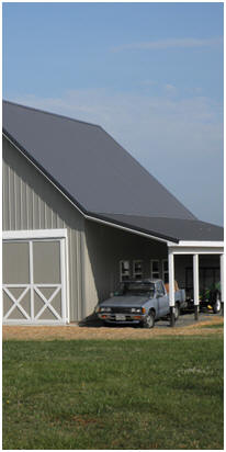 Click to find barn-style country garage plans and building kits