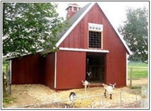 Build a little barn as your studio, backyard office, tractor garage, animal shelter or, whatever. Plans for dozens of designs are on sale at BackroadHome.net